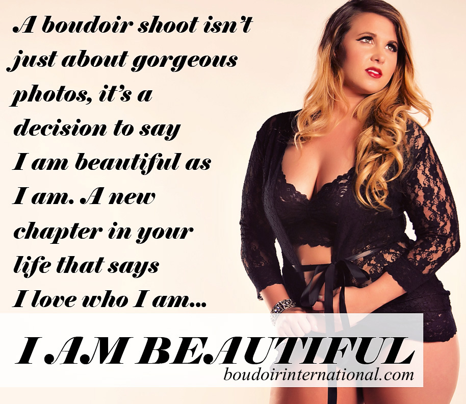 boudoir quote beauty confidence copy Time to make peace with your body...