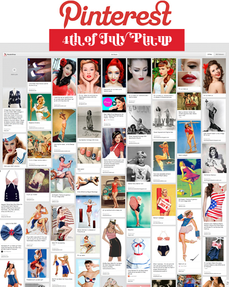 4th of july pinterst Celebrate the 4th of July Pin up Style!