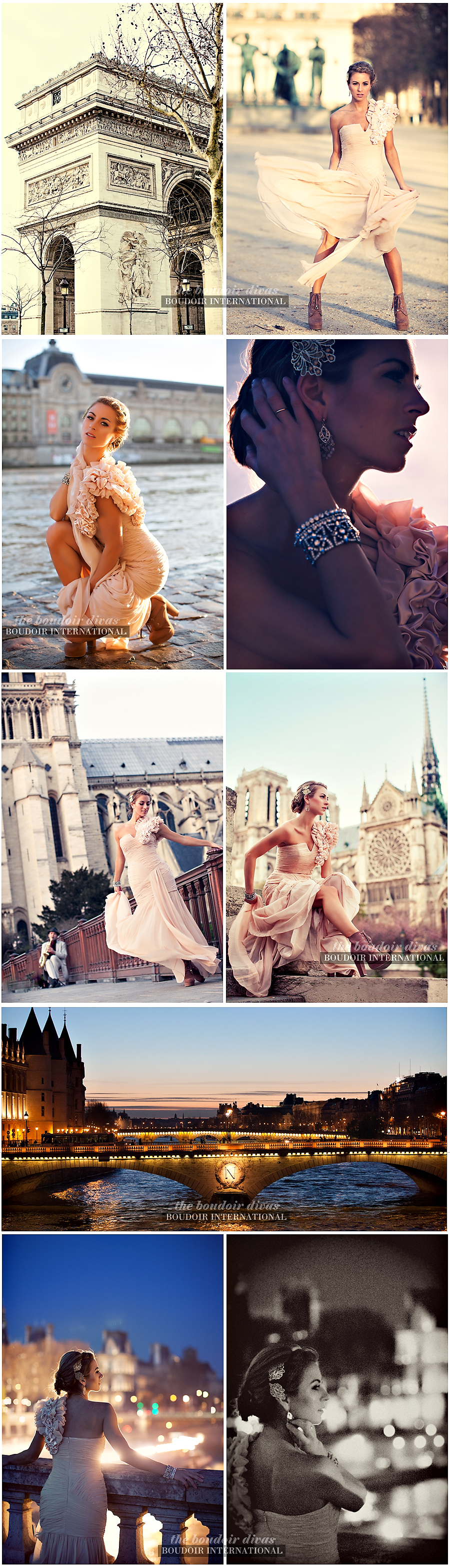 boudoir photos paris arc triumph notre damn fashion gown sexy A dreamy Paris photo shoot...