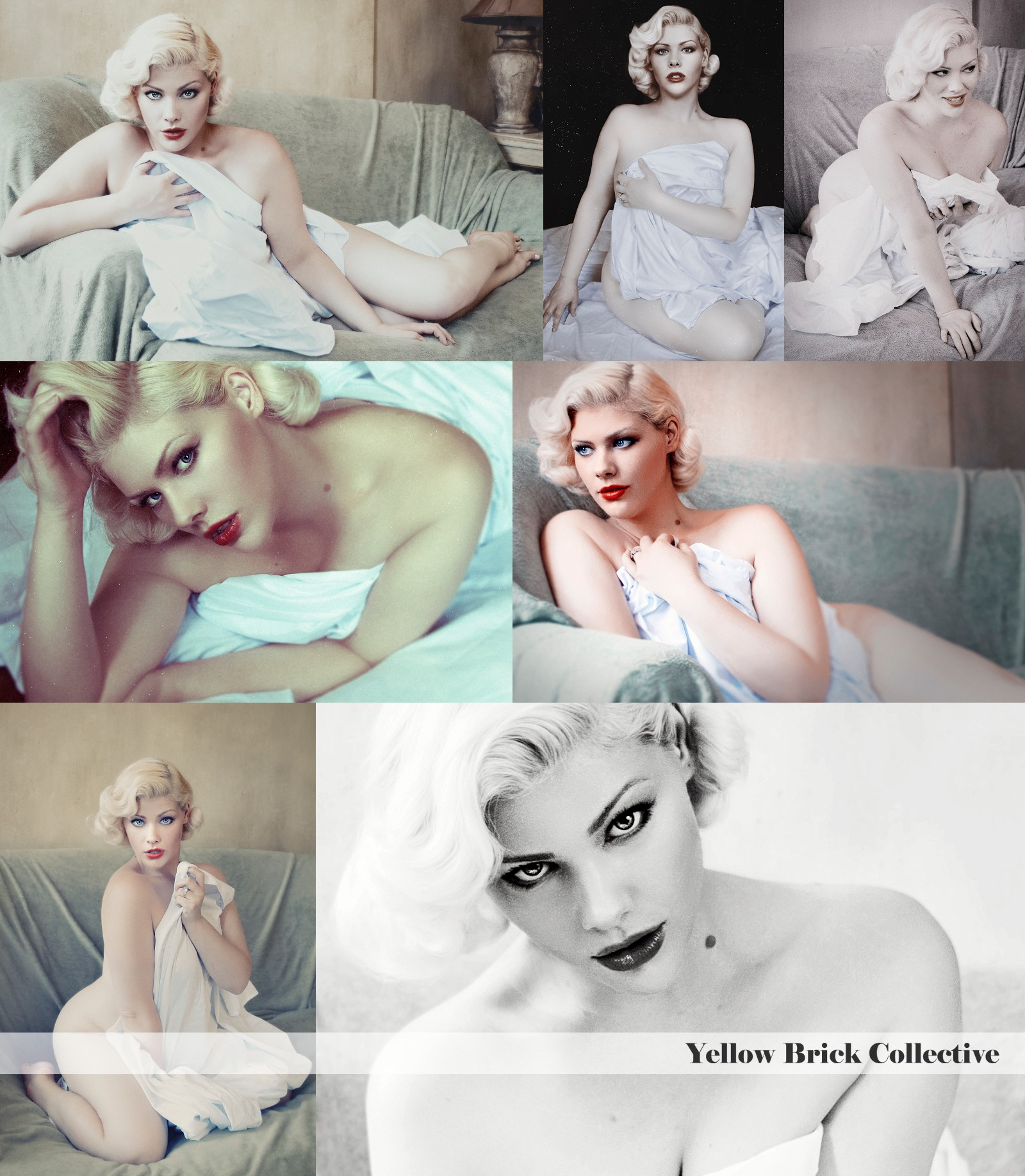 Collage 1 Boudoir Editorial | Agnes Fohn of Yellow Brick Collective | New York City, NY