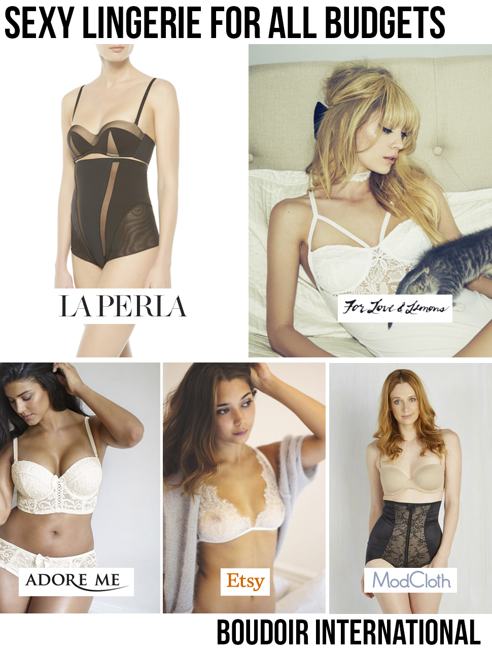 sexy lingerie for all budgets